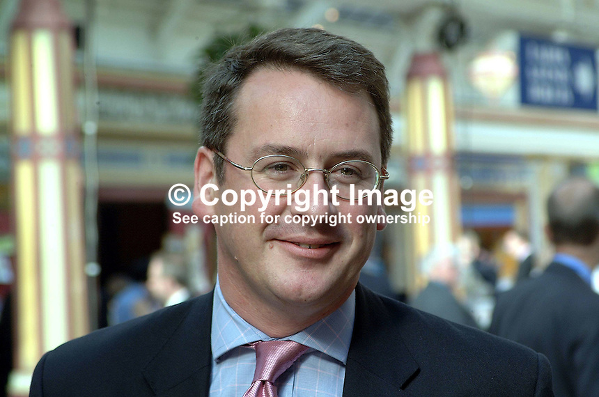 Mark Hoban, MP, Conservative Party, Britain, UK. Taken at Annual Conference, Blackpool. Ref: 200110094103...Copyright Image from Victor Patterson, 54 Dorchester Park, Belfast, UK, BT9 6RJ..Tel: +44 28 9066 1296.Mob: +44 7802 353836.Voicemail +44 20 8816 7153.Skype: victorpattersonbelfast.Email: victorpatterson@mac.com.Email: victorpatterson@ireland.com (back-up)..IMPORTANT: If you wish to use this image or any other of my images please go to www.victorpatterson.com and click on the Terms & Conditions. Then contact me by email or phone with the reference number(s) of the image(s) concerned.