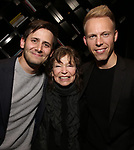 Benj Pasek, Gretchen Cryer and Justin Paul attends The Dramatists Guild Foundation Salon with Matt Gould on March 12, 2018 at StellarTower in New York City.