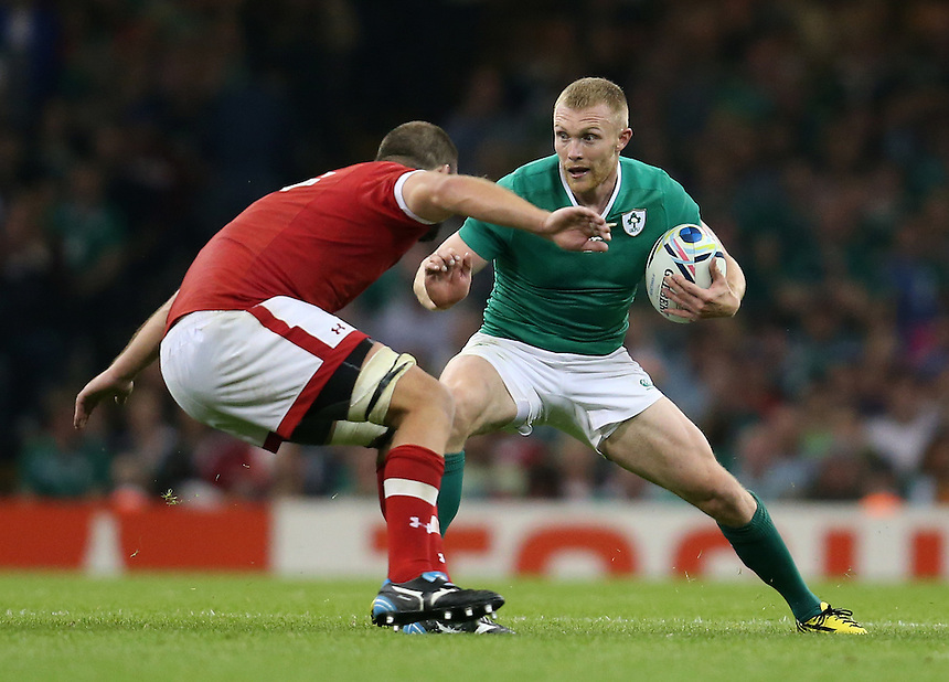 Ireland's Keith Earls in action during todays match<br /> <br /> Photographer Ian Cook/CameraSport<br /> <br /> Rugby Union - 2015 Rugby World Cup - Canada v Ireland - Saturday 19th September 2015 - Millennium Stadium - Cardiff<br /> <br /> &copy; CameraSport - 43 Linden Ave. Countesthorpe. Leicester. England. LE8 5PG - Tel: +44 (0) 116 277 4147 - admin@camerasport.com - www.camerasport.com