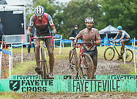 NWA Democrat-Gazette/BEN GOFF @NWABENGOFF<br /> Racers compete in the UCI Elite Men event Sunday, Oct. 6, 2019, during the the Fayettecross cyclocross races at Centennial Park at Millsap Mountain in Fayetteville.