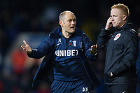 An animated Alex Neil, Manager of Preston North End during Ipswich Town vs Preston North End, Sky Bet EFL Championship Football at Portman Road on 3rd November 2018