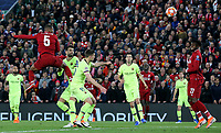 Liverpool's Georginio Wijnaldum scores his side's third goal <br /> <br /> Photographer Rich Linley/CameraSport<br /> <br /> UEFA Champions League Semi-Final 2nd Leg - Liverpool v Barcelona - Tuesday May 7th 2019 - Anfield - Liverpool<br />  <br /> World Copyright © 2018 CameraSport. All rights reserved. 43 Linden Ave. Countesthorpe. Leicester. England. LE8 5PG - Tel: +44 (0) 116 277 4147 - admin@camerasport.com - www.camerasport.com