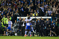 Reading players and coaching staff celebrate at the final whistle     <br /> <br /> <br /> Photographer Craig Mercer/CameraSport<br /> <br /> The EFL Sky Bet Championship Play-Off Semi Final Second Leg - Reading v Fulham - Tuesday May 16th 2017 - Madejski Stadium - Reading <br /> <br /> World Copyright &copy; 2017 CameraSport. All rights reserved. 43 Linden Ave. Countesthorpe. Leicester. England. LE8 5PG - Tel: +44 (0) 116 277 4147 - admin@camerasport.com - www.camerasport.com