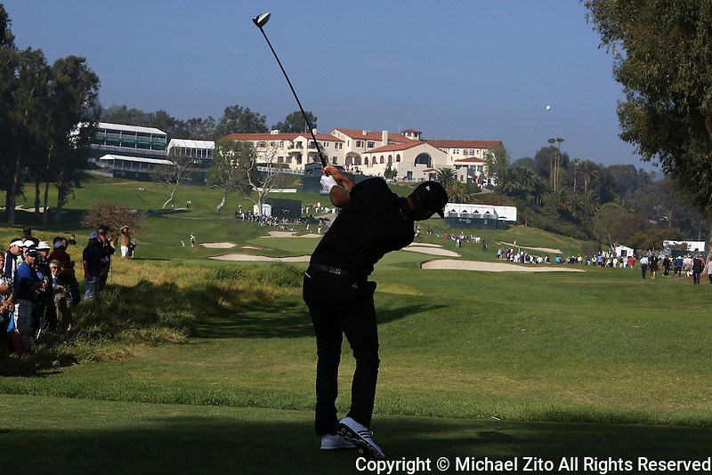 February 19, 2015: Dustin Johnson during the first round of the Northern Trust Open. Played at Riviera Country Club, Pacific Palisades, CA.