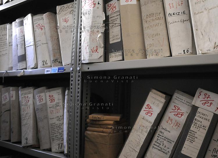 Roma, Maggio 2011.Archivio Giudiziario della corte D'Assise.Processi estrema destra.
