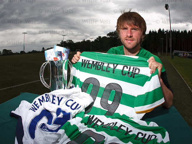 Pat McCourt promotes Celtic's upcoming tournament at Wembley Stadium..*SUNDAYS ONLY*