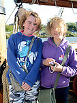 Odette Flannery and Sarah O'Elmasry pictured aboard the tallships. Photo:Colin Bell/pressphotos.ie