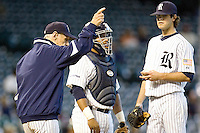 Graham, Wayne Rice pitching change 3972 (Andrew Woolley).jpg. NCAA baseball, Houston College Classic. Baylor Bears vs Rice Owls. Minute Maid Park. March 1st, 2009 in Houston, Texas. Photo by Andrew Woolley.