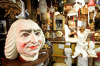 Maschere nella bottega Mondonovo a Venezia.<br /> Interior of the mask laboratory shop Mondonovo in Venice.<br /> UPDATE IMAGES PRESS/Riccardo De Luca