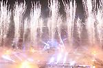 12.01.2019, Rhein Energie Stadion, K&ouml;ln, GER, DEL Wintergame, K&ouml;lner Haie - D&uuml;sseldorfer EG, im Bild<br /> &Uuml;bersichtsaufnahme nach dem Spiel gegen D&uuml;sseldorf / Feuerwerk<br /> <br /> Foto &copy; nordphoto / Mueller