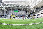 Stockholm 2014-04-06 Fotboll Allsvenskan Djurg&aring;rdens IF - Halmstads BK :  <br /> Djurg&aring;rdens Aleksandar Prijovic g&ouml;r 2-0 bakom Halmstads m&aring;lvakt Stojan Lukic <br /> (Foto: Kenta J&ouml;nsson) Nyckelord:  Djurg&aring;rden DIF Tele2 Arena Halmstad HBK jubel gl&auml;dje lycka glad happy remote remotecam remotekamera