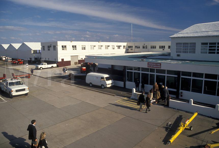 airport, Bermuda, Bermuda International Airport in St. George's Parish.
