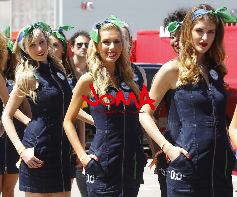 Grid girls at Formula 1 World Championship,FIA, Spanish Grand Prix, Qualifying, Barcelona. 13.05.2017