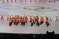 OLYMPIC GAMES: PYEONGCHANG: 09-02-2018, PyeongChang Olympic Stadium, Olympic Games, Opening Ceremony, Entrance Team The Netherlands, ©photo Martin de Jong