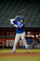 Oklahoma City Dodgers catcher Will Smith (10) at bat during a Pacific Coast League game against the New Orleans Baby Cakes on May 6, 2019 at Shrine on Airline in New Orleans, Louisiana.  New Orleans defeated Oklahoma City 4-0.  (Mike Janes/Four Seam Images)