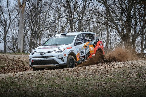 2017 Rally America<br /> Rally in the 100 Acre Wood<br /> Salem, MO USA<br /> Thursday 16 March 2017<br /> Ryan Millen, Rhianon Gelsomino<br /> &copy;2017, Gardner Automotive Communications, Inc.