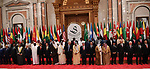 Palestinian President Mahmoud Abbas pose for a photo during the Arab American Islamic summit in the Saudi capital Riyadh on May 21. 2017. Photo by Thaer Ganaim