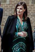 MADRID, SPAIN-April 10: Queen Letizia of Spain attends the Inauguration of the accessibility works carried out in the Real Monasterio de la Encarnacion on April 10, 2019 in Madrid, Spain. April10, 2019.  ***NO SPAIN***<br /> CAP/MPI/RJO<br /> <br /> CAP/MPI/RJO