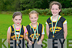 Winners of the under 14 years girls at Novice Cross Country Championships last Sunday 6th October 2013, Demense, Killarney, l-r: 2nd place Rebecca Kenny, 1st place Natasha Myers, 3rd place Elaine O'Donoghue.