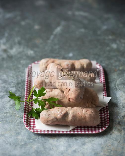 France, Aube (10), Troyes, L'andouillette de Troyes de la Maison Gilbert Lemelle //  France, Aube, Troyes, Gilbert Lemelle's Genuine AAAAA Troyes Chitterling sausage