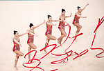 Bulgaria team group (BUL),<br /> AUGUST 20, 2016 - Rhythmic Gymnastics :<br /> Group All-Around Qualification, Rotation 1 Ribon at Rio Olympic Arena during the Rio 2016 Olympic Games in Rio de Janeiro, Brazil. (Photo by Enrico Calderoni/AFLO SPORT)