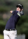 Tyler Hodge during the Autex Muriwai Open, Muriwai Golf Club, Auckland, Saturday 30 April 2016. Photo: Simon Watts/www.bwmedia.co.nz
