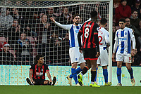 Bournemouth's Nathan Ake (left) sitting down and looks on in frustration after missing a shot at goal<br /> <br /> Photographer David Horton/CameraSport<br /> <br /> The Premier League - Bournemouth v Brighton and Hove Albion - Saturday 22nd December 2018 - Vitality Stadium - Bournemouth<br /> <br /> World Copyright © 2018 CameraSport. All rights reserved. 43 Linden Ave. Countesthorpe. Leicester. England. LE8 5PG - Tel: +44 (0) 116 277 4147 - admin@camerasport.com - www.camerasport.com