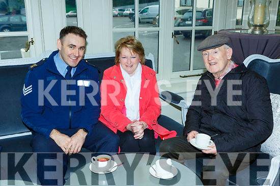 Sgt Dave Howard, Maura Breen and Jerry Cronin at the Garda meet and greet in the Killarney Heights Hotel on Friday