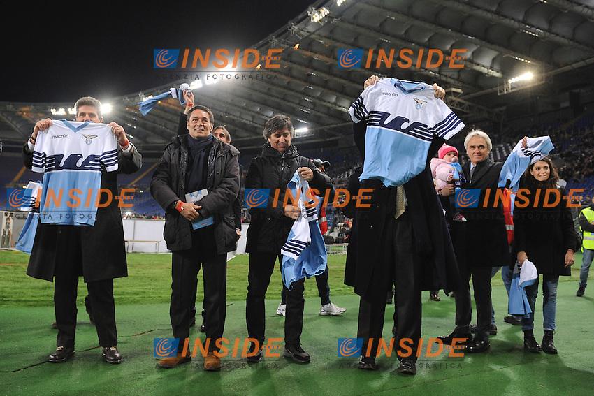 La Lazio del &quot;meno nove&quot; -9 sotto la Curva Nord <br /> Roma 24-01-2015 Stadio Olimpico, Football Calcio Serie A Lazio - Milan. Foto Andrea Staccioli / Insidefoto