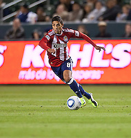 CARSON, CA – MARCH 26: Chivas USA defender Mariano Trujillo (8) during the match between Chivas USA and Colorado Rapids at the Home Depot Center, March 26, 2011 in Carson, California. Final score Chivas USA 0, Colorado Rapids 1.