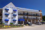 Princess Hotel with solar panels on the roof. Tobermory, Ontario, Canada