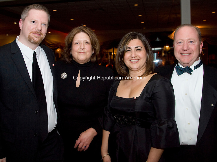 WATERBURY, CT - 22 NOVEMBER 2009 -112209JT09--<br /> From left, from High Grade Business Group, Bill Buccheri, Linda LaPaglia, Eva Pedro and Phil Cantore during the Waterbury Hospital Gala at the Villa Rosa in Waterbury on Saturday, Nov. 21.<br /> Josalee Thrift Republican-American