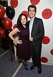 Georgia Stitt and Jason Robert Brown attends the The Lilly Awards  at Playwrights Horizons on May 22, 2017 in New York City.