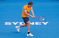 FLORIAN MAYER..Tennis - Apia Sydney International -  Sydney 2013 -  Olympic Park - Sydney - NSW - Australia.Wednesday 9th January  2013. .© AMN Images, 30, Cleveland Street, London, W1T 4JD.Tel - +44 20 7907 6387.mfrey@advantagemedianet.com.www.amnimages.photoshelter.com.www.advantagemedianet.com.www.tennishead.net