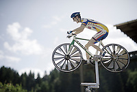 roadside cyclo creativity<br /> <br /> Stage 18 (ITT) - Sallanches &rsaquo; Meg&egrave;ve (17km)<br /> 103rd Tour de France 2016