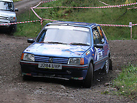 Jordan Black / Ewan Leeming at Junction 6, on Special Stage 1 Craigvinean in the Colin McRae Forest Stages Rally 2012, Round 8 of the RAC MSA Scotish Rally Championship which was organised by Coltness Car Club and based in Aberfeldy on 5.10.12.