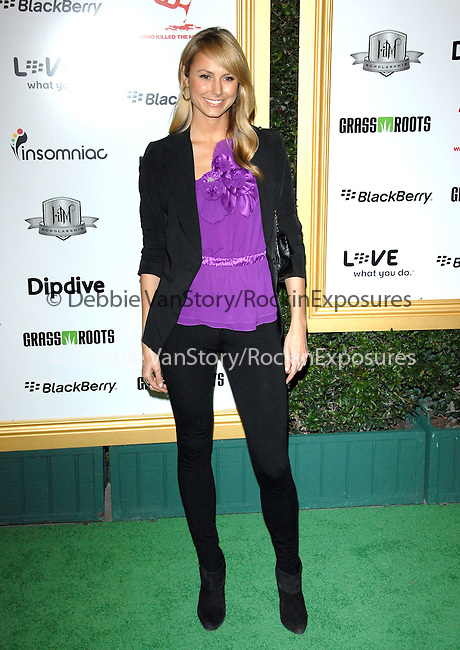 Stacy Keibler at The First Annual Data Awards, presented by will.i.am, The Black Eyed Peas & Dipdive held at The Hollywood Palladium in Hollywood, California on January 28,2010                                                                   Copyright 2009  DVS / RockinExposures