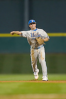 Shortstop Niko Gallego #2 of the UCLA Bruins makes a throw to first versus the Rice Owls in the 2009 Houston College Classic at Minute Maid Park February 27, 2009 in Houston, TX.  The Owls defeated the Bruins 5-4 in 10 innings. (Photo by Brian Westerholt / Four Seam Images)