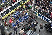 Tom Boonen (BEL/Quick Step Floors) attrackts a lot of press attention.  He is riding his last race on Belgian soil with the start in his hometown of Mol.<br /> <br /> 105th Scheldeprijs 2017 (1.HC)<br /> 1day race: Mol > Schoten 200km