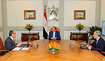 Egyptian President Abdel Fattah al-Sisi meets with Minister of Electricity and Renewable Energy in Cairo, Egypt on August 13, 2017. Photo by Egyptian President Office