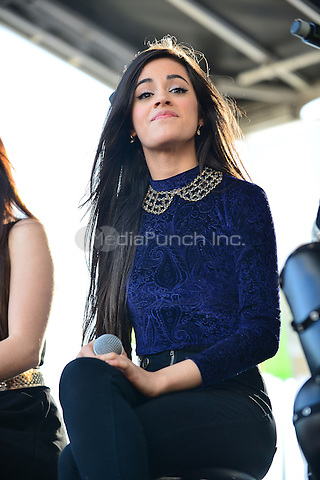 SUNRISE, FL - DECEMBER 20: Camila Cabello of Fifth Harmony performs at Y100's Pre-Show at the Jingle Ball Village on the plaza at the BB&T Center on December 20, 2013 in Sunrise, Florida. . © MPI10/MediaPunch Inc