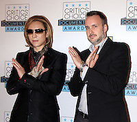 NEW YORK, NY-November 03: Yoshiki, Stephen Kijak at The Inaugural Critics Choice Documentary Awards at  BRIC | 647 Fulton St, Brooklyn, New York .November 03, 2016. Credit:RW/MediaPunch