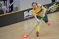 Australia&rsquo;s Vanessa Dwyer in action during the World Floorball Championships 2017 Qualification for Asia Oceania Region Final - Australia v Japan at ASB Sports Centre , Wellington, New Zealand on Sunday 5 February 2017.<br /> Photo by Masanori Udagawa<br /> www.photowellington.photoshelter.com.