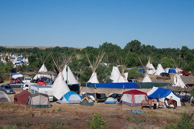 Families, clans and friends set up camp in the large cottonwood grove surrounding the dance arbor.