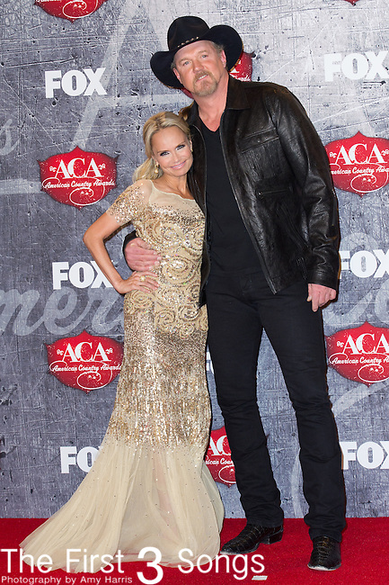 2012 ACA hosts Kristin Chenoweth and Trace Adkins in the press room at the American Country Awards 2012 at the Mandalay Bay Resort & Casion in Las Vegas, Nevada.