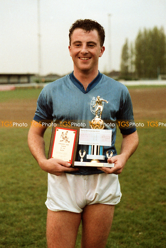 Paul Wilson receives the Barking FC Player of the Season Award for 1986-87 - MANDATORY CREDIT: Gavin Ellis/TGSPHOTO - Self billing applies where appropriate - Tel: 0845 094 6026