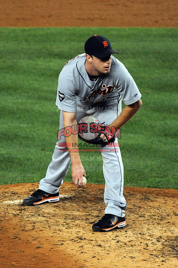 Detroit Tigers pitcher Max Scherzer #37 during ALDS game #5 against the New York Yankees at Yankee Stadium on October 06, 2011 in Bronx, NY.  Detroit defeated New York 3-2 to take the series 3 games to 2 games.  Tomasso DeRosa/Four Seam Images