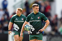 George Ford of Leicester Tigers looks on during the pre-match warm-up. Gallagher Premiership match, between Leicester Tigers and Worcester Warriors on September 21, 2018 at Welford Road in Leicester, England. Photo by: Patrick Khachfe / JMP