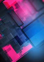 Abstract three dimensional multi-layered translucent backgrounds pattern