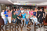 Ryan Sheehy from Hawley Park celebrating his 21st. with family and friends at the Abbey Inn on Saturday